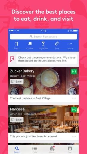 foursquare-location-based-services screen 2