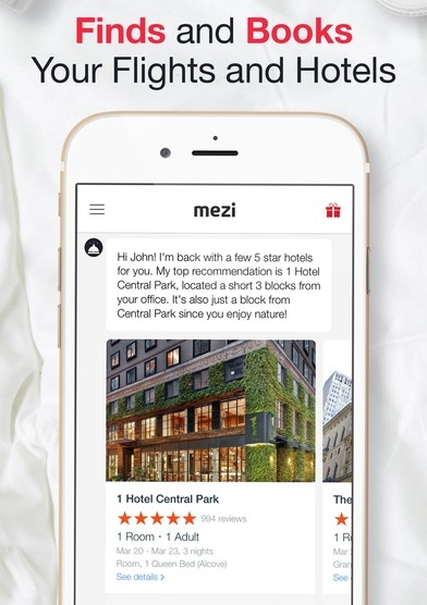 mezi-travel-chatbot-app-screen-booking-a-hotel