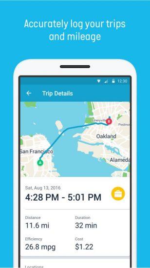 automatic-car-maintenance-app-trip-report-screen