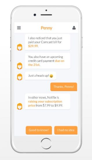 penny-personal-finance-app-example-of-chatbot-apps